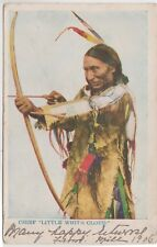 CHIEF LITTLE WHITE CLOUD - RED INDIAN - USED 1906 - POSTCARD