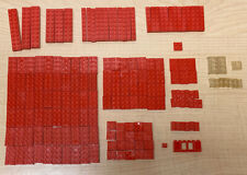 Vintage 177 pc LEGO Samsonite Bricks Baseplates Window 60-70s Open-O • Red Clear