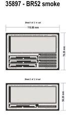 Eduard 1/35 BR 52 Kriegslocomotive smoke deflector For Trumpeter Kits # 35897