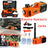 Car Electric Jack Hydraulic Floor 12V DC 5 Ton Tire Inflator Pump Tire Change