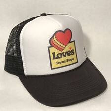 Vintage Style Loves Travel Truck Stop Gas Oil Trucker Hat Snapback Cap Black