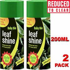 More details for baby bio leaf shine spray 2 x 200ml long lasting leaf shine indoor houseplants