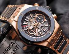 Hublot Big Bang Unico 18k King gold mens watch XL skeleton dial bracelet