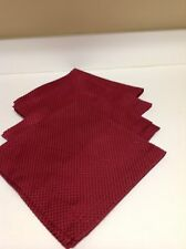 "Waterford  4 Red ""DOT""   20"" by 20"" Napkins 60% Cotton 40% Polyester"