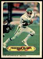 1983 Topps Sticker #20 Freeman McNeil NICE ODDBALL New York Jets / UCLA
