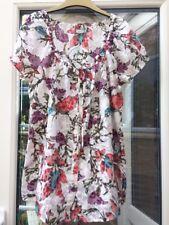 Blue Size 10 to 18 A19 Womens ESPRIT Y Neck T Shirt Top Floral Print