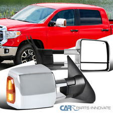 Para Toyota tundra 08-17 Sequoia 07-17 potencia Calentado Espejos De Remolque De Cromo + LED Señal