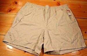 Basic Editions Womens Khaki shorts elastic stretch waistband