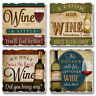 Mixed Absorbent Stone Coasters Set of 4 Wine a Little, I Cook with Wine Humor