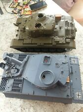 2 Heng Long RC Real Action Battle Tank Parts Lot  27.145mhz 1/16 scale