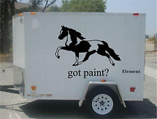 Got Paint? LARGE GRAPHIC Horse Trailer RV Decal Stickers  40x60   Set of 2