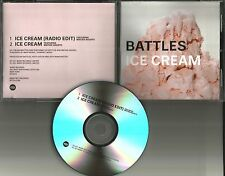 HELMET Drummer BATTLES Ice Cream w/ RARE RADIO EDIT TST PRESS PROMO DJ CD single