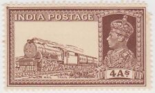 (I100) 1937 INDIA 4a brown mint mail train ow255
