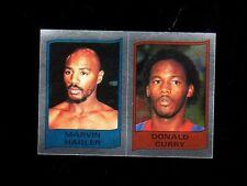 1986 Panini-for-Italy Boxing Marvin Hagler Donald Curry~World Champion~Brockton