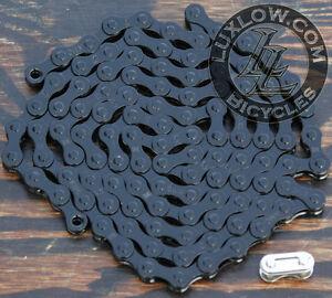 "Black Fixie KMC Bicycle Chain 1 Speed 1/2x1/8"" 112L Schwinn Cruiser Bike BMX"