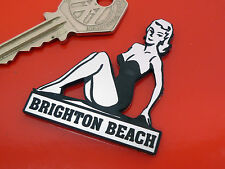 Plage de Brighton pin-up girl style adhésif voiture moto badge scooter LAMBRETTA