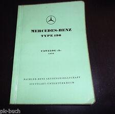Catalogo Ricambi Mercedes W121 Ponton Tipo 190 Stand 1956 DIN-A-5