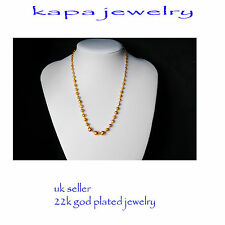 Mens Jewellery 22k Gold Plated Necklace for Men or Women Chain Indian gold a16a