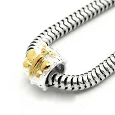 BUTTERFLY Spacer-Genuine Solid 925 sterling silver European charm bead-Gold pl.