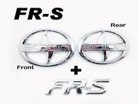 Front + Rear + FRS Trunk Badge Emblem Logo chrome For Scion FRS FR-S ZN6