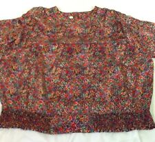 St1323 Laura & Jayne Two Collection Women's Multicolored Long-Sleeve Blouse 22W