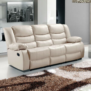 LOTHIAN Fully-Reclining LazyBoy Leather Recliner Sofa 3 + 2 Seaters + Armchairs