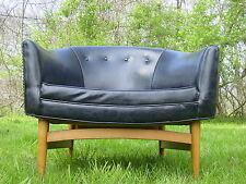 Vintage 1950s modern barrel lounge chair Lawrence Peabody mid century Dunbar era