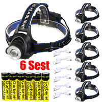 150000Lumens T6 LED Zoomable Headlamp Rechargeable 18650 Headlight Head Lamp