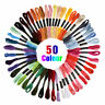 50PCS Cotton DMC Cross Floss Stitch Thread Embroidery Sewing Skeins Multi Colors