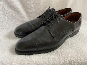 EUC Allen Edmonds Madison Ave Black Size 11 D Leather Cap Toe Oxford Dress 8602