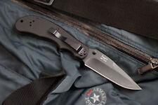 "Russian Folding knife ""Sagat"" Black titanium (440C Steel) Ground Zero knives"