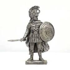 """Tin toy soldier """"Greek warrior (Mycenae), 12 c. BC """" metal sculpture (54mm) #Z51"""