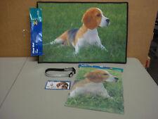 New Beagles Dog 4 Piece Lot Floor Mat Garden Flag Collar Car Magnet #12