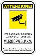 KIT 1 ADHESIVOS ADHESIVO SIGNO 10X15 ZONA VIDEO VIGILANCIA ATENCIÓN COD150