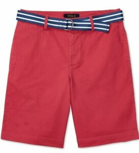 Polo Ralph Lauren Boys Chino Red Coral Shorts Stretch Size 10