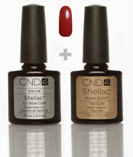 CND Shellac Set Base coat + Top coat + Hollywood Top Qualität Gel Kit UV LED