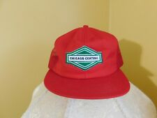 Pre-Owned Red Chicago Central Trucker Meshback Snapback Hat Made in USA