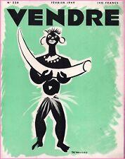 ▬►MARKETING PUBLICITÉ  -- VENDRE N° 228 (FEVRIER 1949) --  COVER  R.H DEPAILLAT