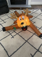 Gemmy Airblown Inflatable Hanging Reindeer w/ String Lights Christmas Yard Decor
