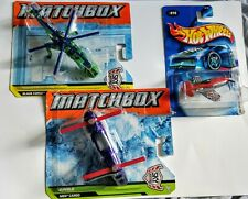 Mattel Matchbox Helicopters Cargo Force & Hot Wheels Madd Propz Airplane Lot New