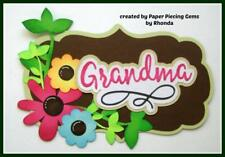 Grandma Title everyday scrapbook premade paper piecing for album card by Rhonda
