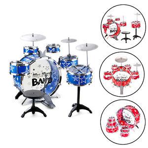 Childrens 16Pcs Rock Drum Kit Junior Set Toy Musical Rock Band Play Toy Gift