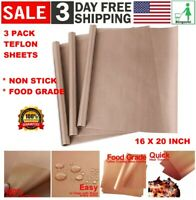 3 Pack PTFE Teflon Transfer Sheets for Heat Press Non Stick Reusable Craft Paper