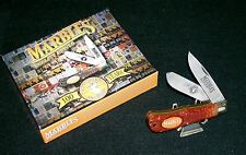 """Marbles Trapper's Knife USA Made 4-1/2"""" Circa-1992 100th Anniversary W/Packaging"""