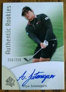Ariya Jutanugarn 2014 SP Authentic Rookies #/299 Autograph