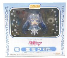 """Nendoroid207 Snow Miku Fluffy Coat ver. """" Figure  Authentic GSC JP A1992"""