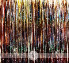 """NEW 40"""" Hair Tinsel 125 Strands – Amber Mystery Mix"""