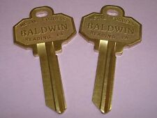 2 Brand New UNCUT BALDWIN 6 PIN KEY BLANKS Model BAL8336152 (2 Keys Total)