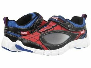 NIB Spiderman Athletic Shoes Marvel by STRIDE RITE Spidey Reflex Lights! 6 6.5 M