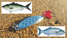 1x 15g QUALITY HOLOGRAPH METAL SURF LURE - Aus Seller - Salmon, Tailor, Flathead